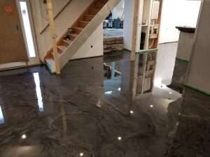meatallic epoxy floor