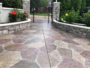 Outdoor floor metallic epoxy