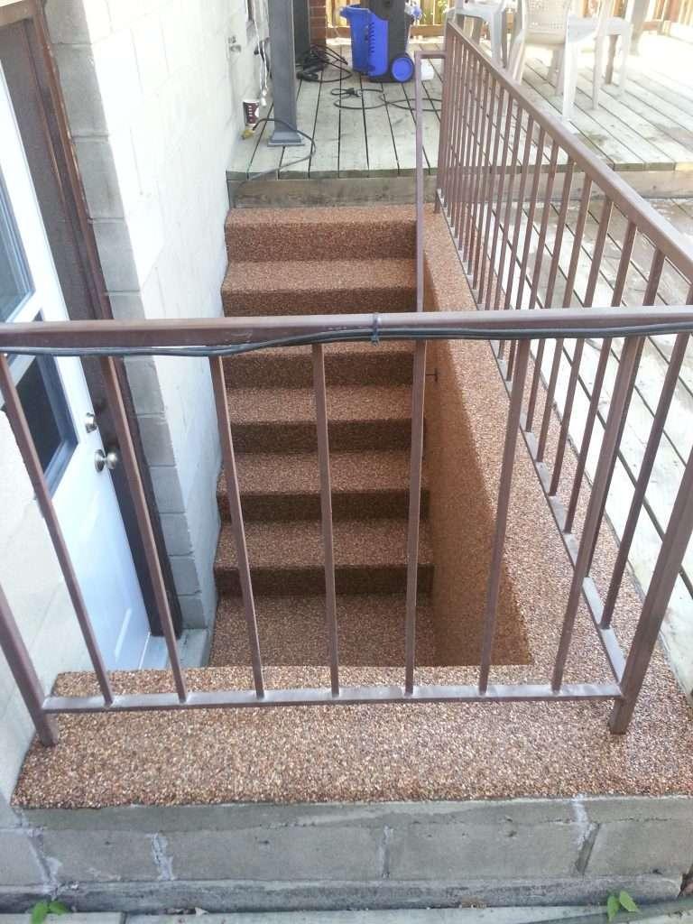 stair concrete floor