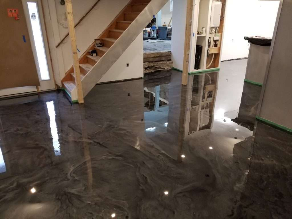 Idoor floor metallic epoxy