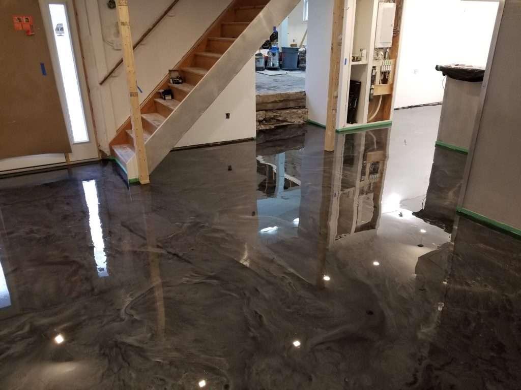 Idoor floor metallic epoxy