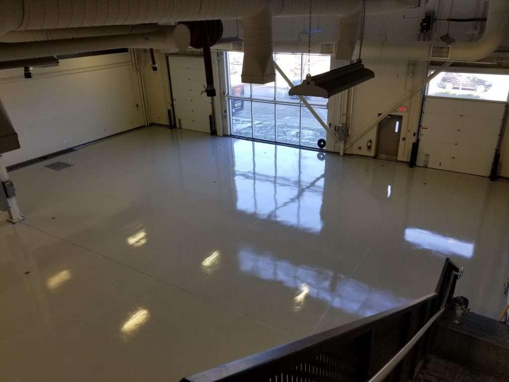 wide epoxy flooring space