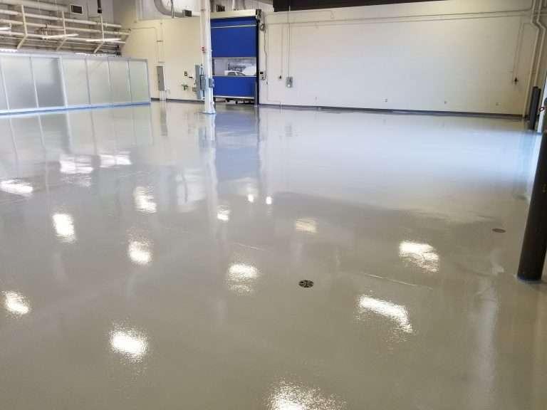 clear epoxy warehouse floor